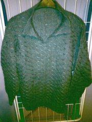 Pullover - Damen - Kragen - Strickmuster - grau -