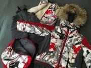 Schneeanzug mit Pelz 4 Teile