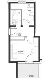 1 Zimmer Appartement ab 01