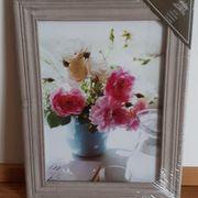 Blumenbild mit Rahmen noch verpackt