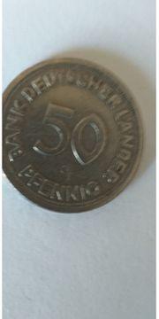 Münze 50 Pfennig ORGINAL B