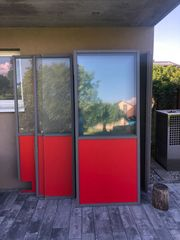 Raumtrenner Glas-Holzelemente 90 x 217