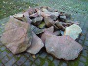 Verschenke rote Buntsandsteine