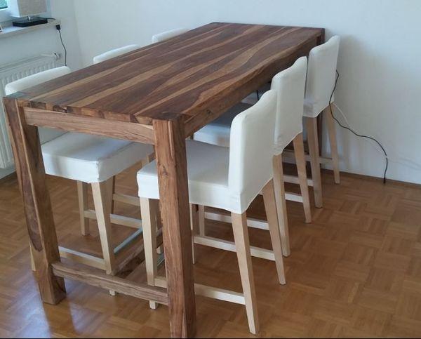 top bartisch tresentisch mit 6 bar st hlen ikea. Black Bedroom Furniture Sets. Home Design Ideas