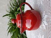 Neuwertige Teekanne aus Steingut in