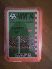 Quartett WM 74 Bielefelder Spielkarten