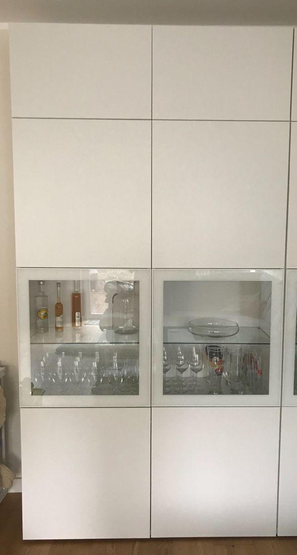 Schrank Besta von Ikea weiß #Schrankwand #Wohnzimmer RESERVIERT in ...