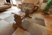 Tischunterbau höhenverstellbar Eichenfurnier