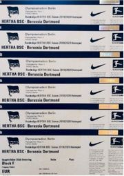 1-5 TOP TICKETS HERTHA BSC -