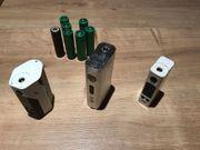 Akkuträger für E-Zigaretten mit Ladegeräten