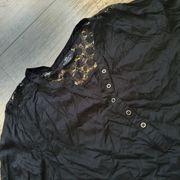 Bluse schwarz mit Spitze und