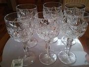 6 Weingläser alte Gläser Kristall