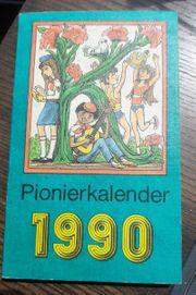 DDR Pionierkalender 1990 Thälmann Pioniere