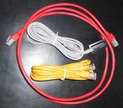3 unbenutzte neuwertige Kabel für
