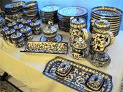 Keramikservice Handarbeit handgemalt des renommierten