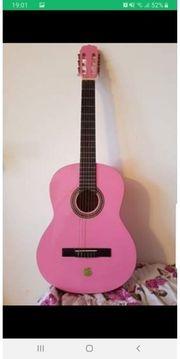 Verkaufe Gitarre pink