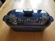 Keramik Brottopf Brotkorb mit Keramikhenkel