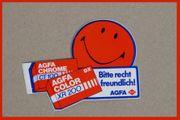 Agfa Aufkleber Sticker-Bitte recht freundlich