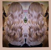 Blonde lange 80cm Haare mit
