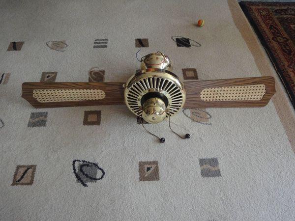 Deckenventilator Messinggehäuse 4 Flügel in