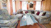 Hochwertige Rundeckgarnitur große Sofalandschaft Sofa