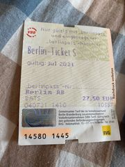 Berlin Ticket S Juli