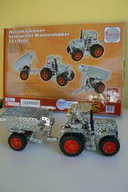 Metallbaukasten Tronico Traktor mit Wannenkipper