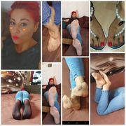 Füße der lady in Socken