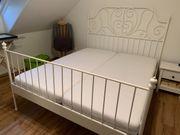 IKEA Metall-Bett weiß inkl 2x