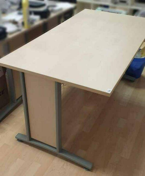 Schreibtisch Ahorn Birke hell 150x80cm