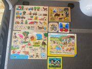 7x Kinder Puzzle Ravensburger Holz