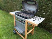 Gasgrill fahrbar 2-flammig extra Kochplatte