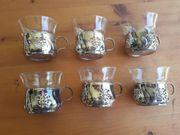 6 Teegläser Jena Glas mit