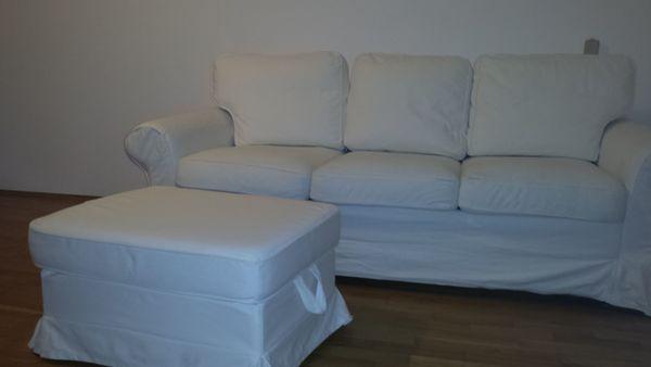 Schlafcouch Ektorp 3er Sofa Mit Récamiere Vittaryd Weiß In München