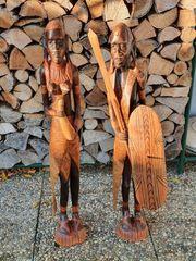Afrika Holzfigurenpaar handgeschnitzt 90 cm