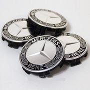 Mercedes Nabendeckel Felgendeckel Nabenkappen Silber
