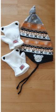 Baby Norweger Mütze und Handschuhe