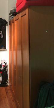 Kleiderschrank massiv Kastanienbraun