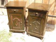Antike Nachttischschränkchen Beistellschränkchen Jugendstil