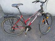 Damen-Trekking-Fahrrad 28 Zoll 21-Gang-Shimanoschaltung