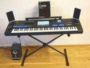 Yamaha Genos Keyboard mit Boxen