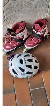 Inlineskates mit Helm