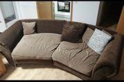XXL Sofa und Sessel in braun