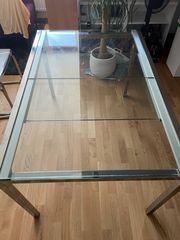Ikea ausziehbarer Glastisch Glivarp