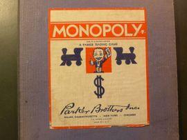 Gesellschaftsspiele - historisches MONOPOLY SPIELBRETT aus AMERIKA
