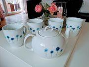 Teeservice Ronnefeldt blaue Margeriten
