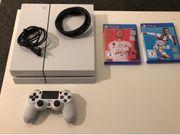 PS4 500GB in weiß mit
