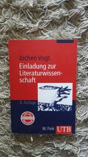 Einladung zur Literaturwissenschaft Vogt 2008