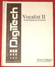 Bedienungsanleitung deutsch für DigiTech Vocalist