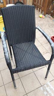 Gartenstühle Polyrattan 4 Stück